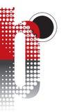 Retro dots abstract alphabet Stock Image
