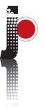 Retro dots abstract alphabet Stock Photo