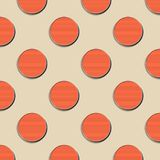 Retro dots pattern, abstract geometric background in 80s, 90s style. Geometrical simple illustration royalty free illustration