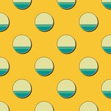 Retro dots pattern, abstract geometric background in 80s, 90s style. Geometrical simple illustration stock illustration