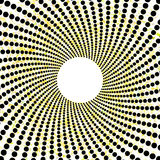 Retro dotted yellow black circles pattern. Vector file, 10 eps Royalty Free Stock Photo