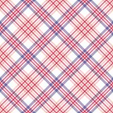 Plaid Seamless Pattern. Diagonal plaid repeating pattern design royalty free illustration