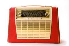 Retro draagbare radio Stock Foto's