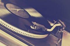 Retro draaischijf, vinylverslag Stock Fotografie