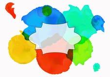 Retro dragen prydnad för vattenfärgstil hand också vektor för coreldrawillustration Fotografering för Bildbyråer