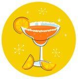 Retro drank of de cocktail van Margarita stock illustratie