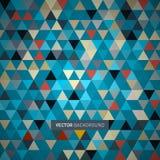 Retro- Dreieck-Hintergrund Stockbilder