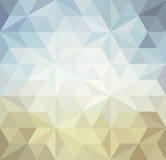 Retro- Dreieckhintergrund Stockfoto