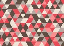 Retro- Dreieckmuster Auch im corel abgehobenen Betrag Geometrischer Auszug Lizenzfreie Abbildung
