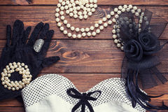 Retro dress and accessories Stock Image