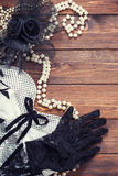 Retro dress and accessories Stock Photography