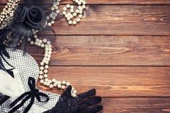 Retro dress and accessories Stock Photos