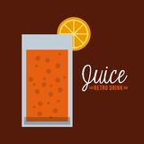 Retro drinks Royalty Free Stock Images