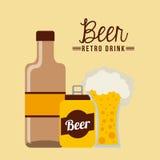 Retro drinks Stock Image