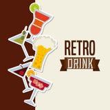 Retro drinks Stock Photography