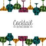 Retro drinks. Design, vector illustration eps10 graphic Stock Photography