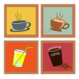 Retro drinks set Royalty Free Stock Photo