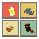 Retro drinks set Royalty Free Stock Photos