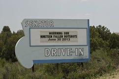 Retro Drive-In Sign Stock Photo