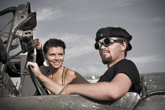 Retro driving Stock Photography