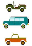 Retro z drogowych samochodów. Fotografia Stock