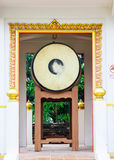 Retro drum of thai temple Stock Photography