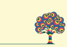 Retro Drzewna Wektorowa ilustracja Obrazy Stock