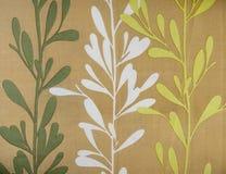 Retro drzewo wzoru tkaniny tekstura Zdjęcie Stock