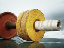 Retro dumbbell Stock Image