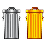 Retro dustbin Stock Photography
