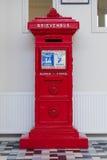 Retro dutch red mail box Stock Photos