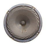 Retro dynamic loudspeaker with paperboard membrane. Stock Image
