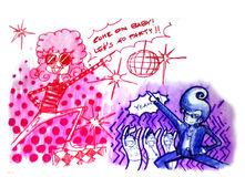 Retro dyskoteki przyjęcia ilustracja Obraz Royalty Free