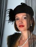 retro dziewczyna kapelusz Obrazy Stock