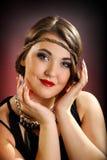 retro dziewczyna portret obraz royalty free