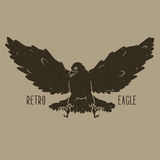 Retro eagle vector illustration Royalty Free Stock Images