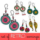 Retro earrings Stock Photo
