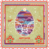 Retro Easter background In Folk Style Royalty Free Stock Photo