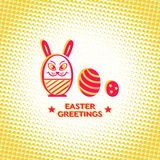 Retro Easter card Stock Photos