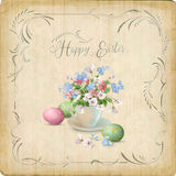 Retro Easter Card Stock Image