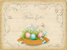 Retro Easter Card Stock Photography