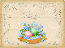 Retro Easter Card Royalty Free Stock Images