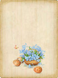 Retro Easter Card Royalty Free Stock Photography