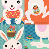 Retro Easter Day Bunny Royalty Free Stock Images