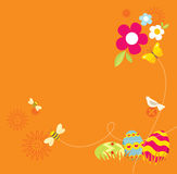 Retro Easter Design Stock Photography
