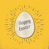 Retro easter egg card illustration for holiday background stock illustration