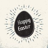 Retro easter egg card illustration for holiday background. Creative and vintage style image stock illustration