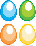 Retro easter eggs Stock Images