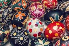 Retro Easter eggs for illustration Stock Images