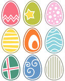 Retro Easter Eggs Set. Collection of colorful retro Easter eggs. Eps file available Royalty Free Stock Images